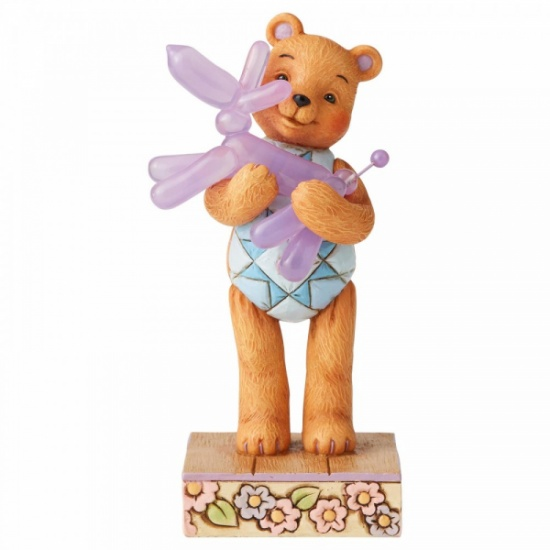 Button and Squeaky Jim Shore Bear Hugs Button Hugging Squeaky Figurine