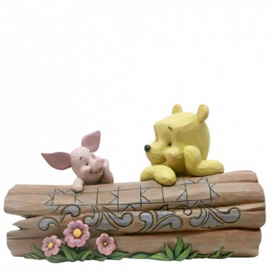 Disney Traditions - Pooh and Piglet on a Log Figurine