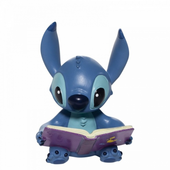 Stitch Reading Book Figurine - Disney Showcase