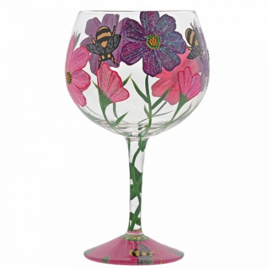 Lolita My Drinking Garden Gin Glass - Bumble Bees and Flowers