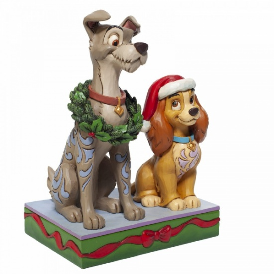 Disney Traditions Jim Shore Decked out Dogs Lady and the Tramp Figurine