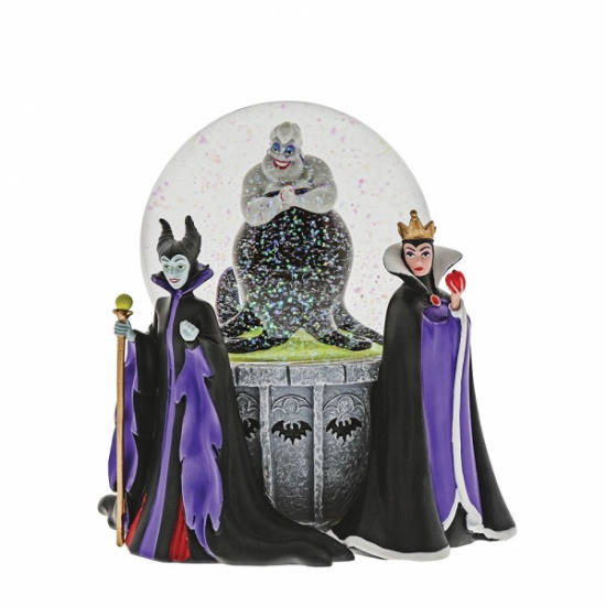 Dept 56 Disney Villains Waterball Figurine Snow Globe Maleficent,  Evil Queen Ursula