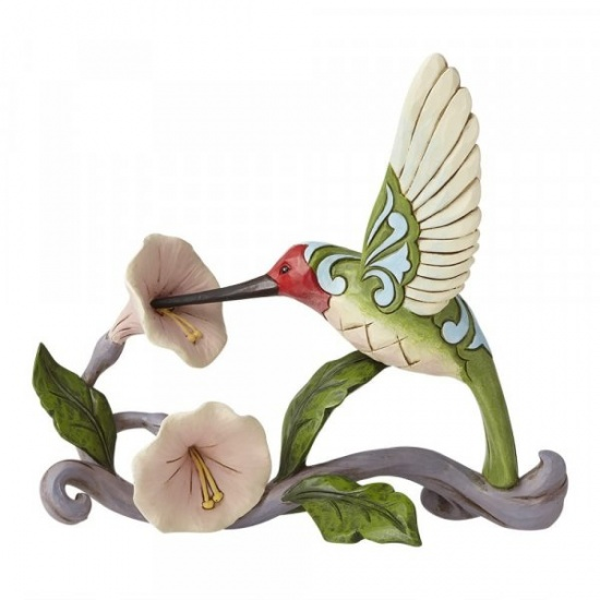 Jim Shore Blossoms and Beauty - Hummingbird with Flower Figurine