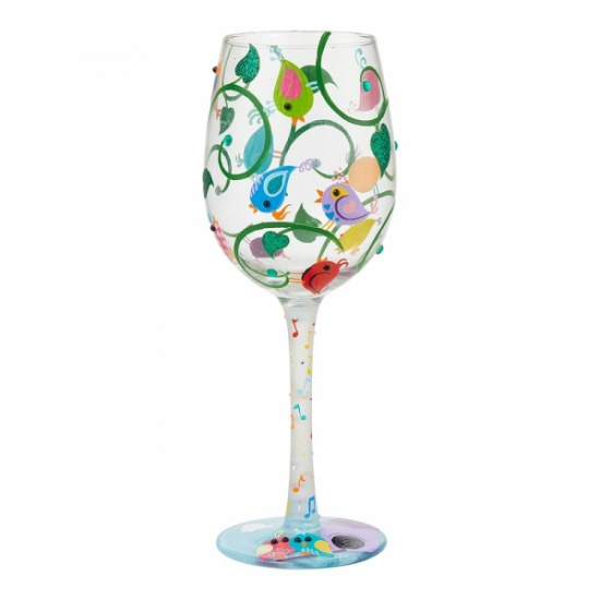 Lolita Song Bird Wine Glass - Gift Boxed