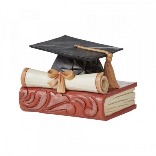 Jim Shore Heartwood Creek Mini Graduation Cap Figurine