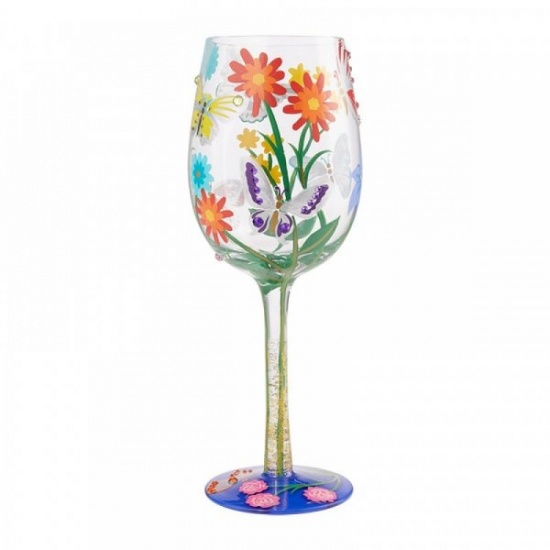 Bejeweled Butterfly Wine Glass by Lolita - Gift Boxed