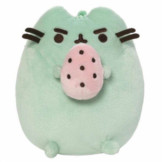 Gund Pusheen the Cat  Green Standing With Egg Large Plush