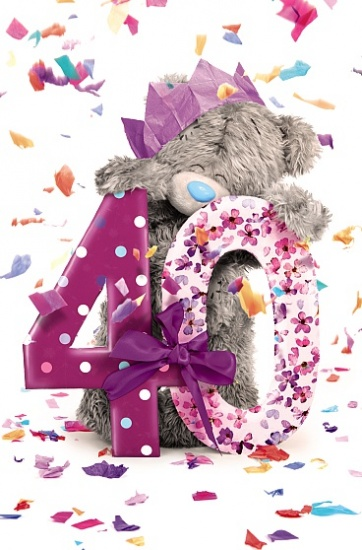 Me to You Tatty Teddy 40th Birthday Greetings Card