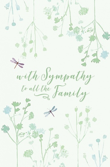 With Sympathy To All The Family Card