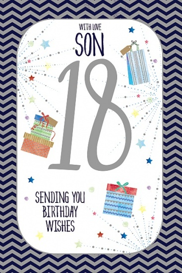 Son 18th Birthday Card - Greetings Card