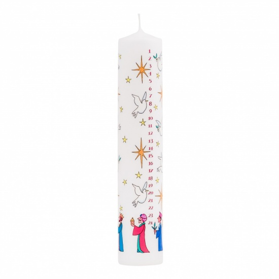 Alison Gardiner - Wise Men Pillar Advent Candle (non-fragranced)