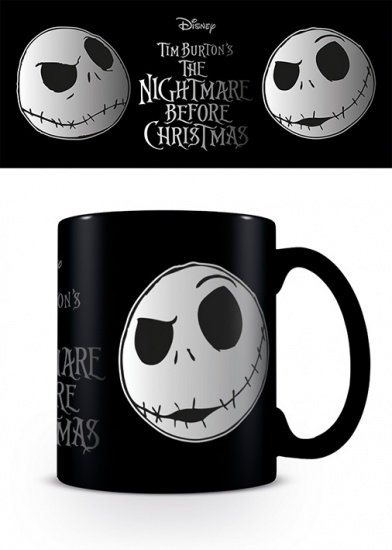 The Nightmare Before Christmas Jack Face Silver foil Gift Boxed Mug
