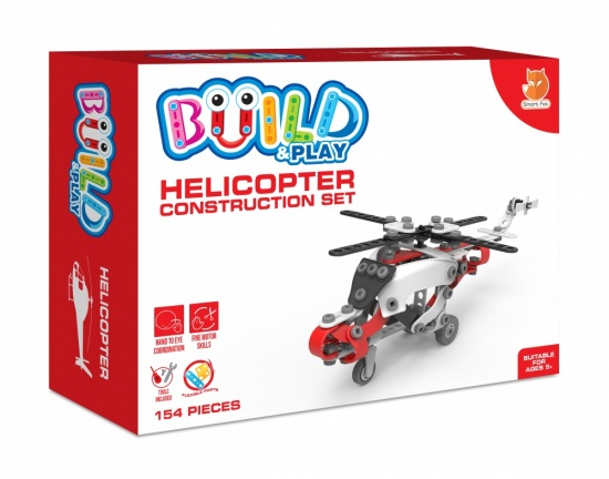 Child's Build & Play Construction Set - Helicopter - Age 5 plus