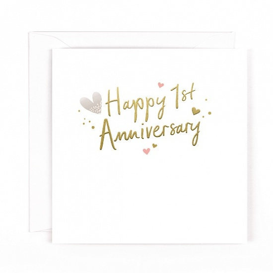 Happy 1st Anniversary Greeting Card - Wedding Anniversary