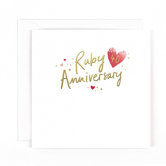 40th Ruby Anniversary Greeting Card - Wedding Anniversary