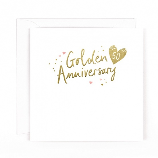 50th Gold Anniversary Greeting Card - Wedding Anniversary