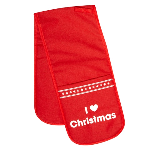 I Love Christmas - Christmas Double Oven Gloves