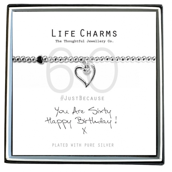 You Are 60 - Silver Plated Bracelet - Life Charms