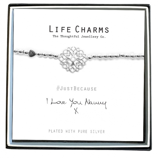 I Love You Nanny - Silver Plated Bracelet - Life Charms