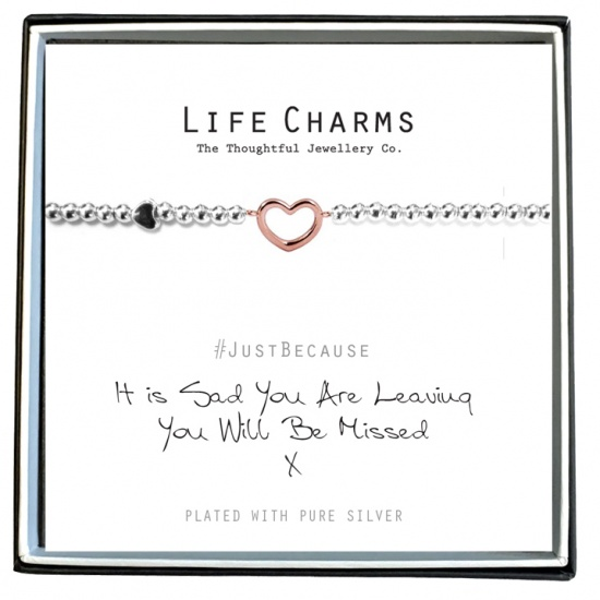 Sad You Are Leaving  - Silver Plated Bracelet - Life Charms