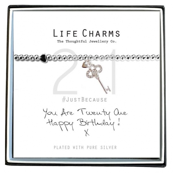 You Are 21 - Silver Plated Bracelet - Life Charms