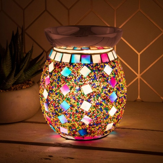 Desire Aroma Colourful Electric Wax Melt Burner Lamp Mosaic Finish Touch Control