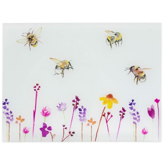 Busy Bees - Glass Cutting Chopping Board Worktop Saver