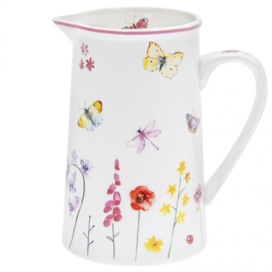Butterfly Garden Fine China Milk Jug - Butterflies and Floral Jug