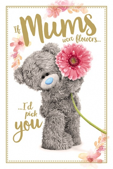 Me to You Tatty Teddy - If Mum's were Flowers - I'd Pick You Mother's Day Card
