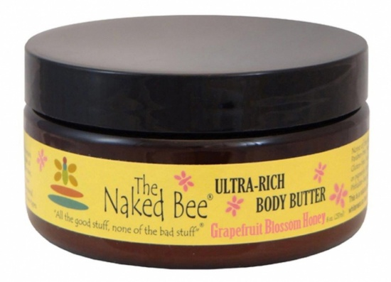 Naked Bee Grapefruit Blossom Honey  Body Butter - 8 oz. jar