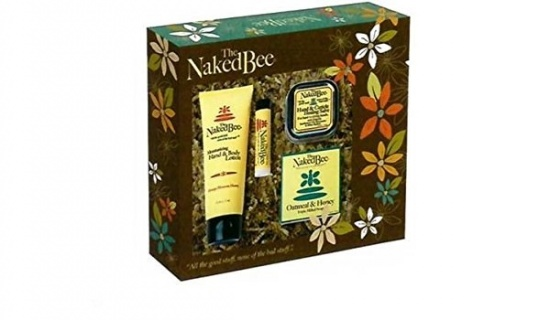 The Naked Bee Orange Blossom Honey 4 Piece Gift Collection Box,