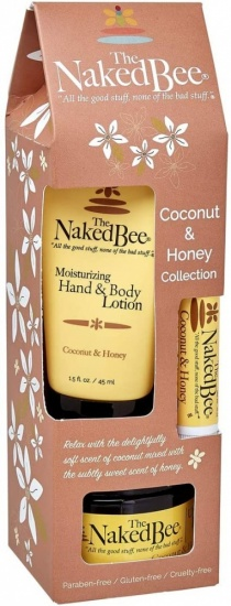 The Naked Bee - Coconut and Honey Gift Collection - Body Butter, Lotion Lip Balm
