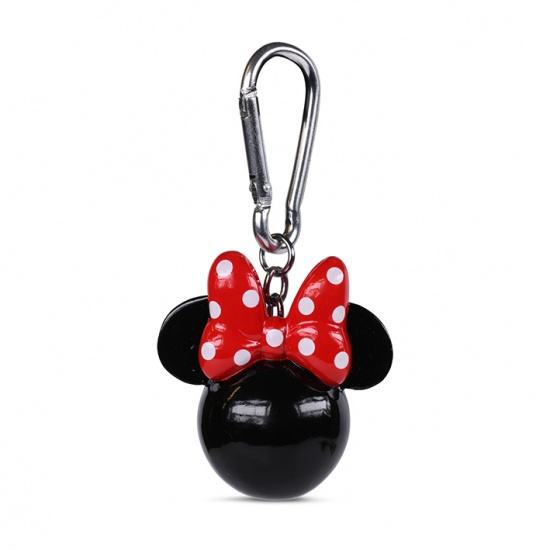 Minnie Mouse with Red Bow Head 3D Keychain / Keyring