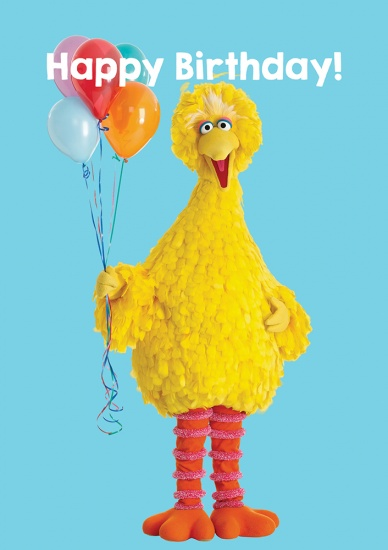 Big Bird Sesame Street Happy Birthday - Greeting Card