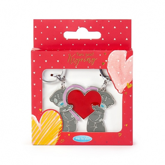 Me to You Tatty Teddy - 2 Part Keyring - With Heart