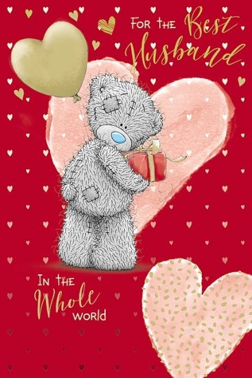 Me to You Tatty Teddy For The Best Husband in The World Valentines Day Card