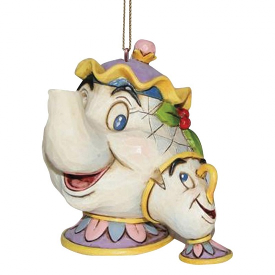 Disney Traditions Mrs Potts & Chip Hanging Ornament