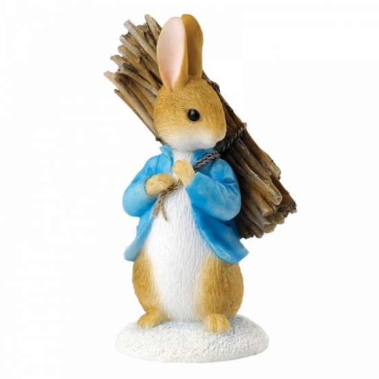 Beatrix Potter Peter Rabbit Carrying Sticks Mini Figurine / Ornament