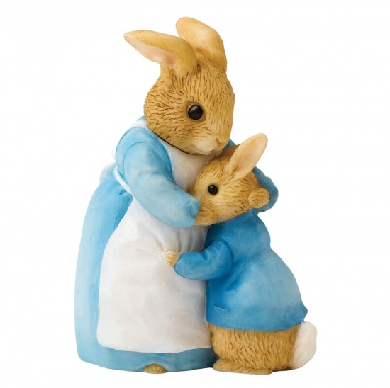Beatrix Potter - Mrs Rabbit & Peter Figurine