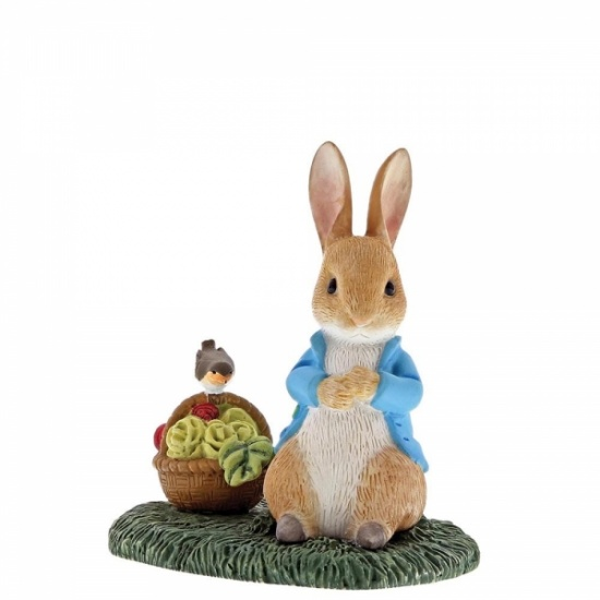 Beatrix Potter Peter Rabbit with Basket Figurine / Ornament