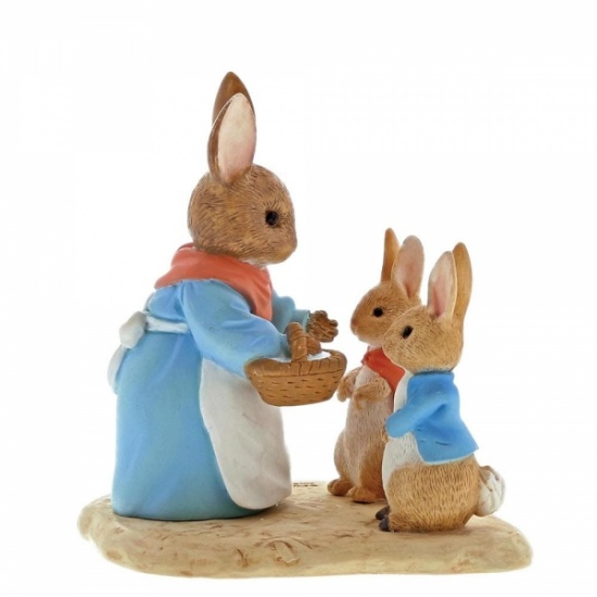 Mrs. Rabbit, Flopsy & Peter Rabbit Figurine / Ornament