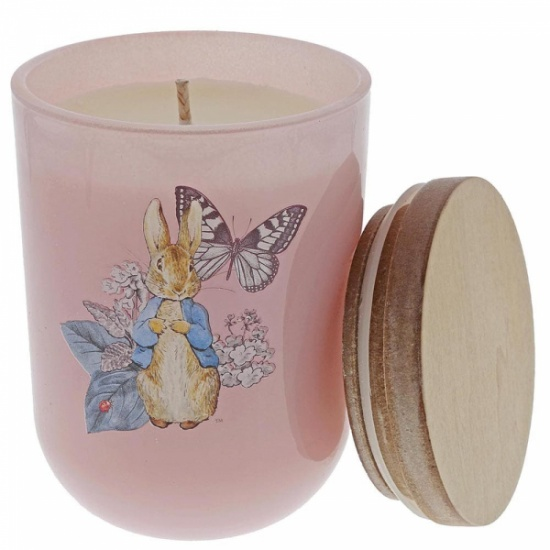 Beatrix Potter - Peter Rabbit Garden Party Pink Floral Candle
