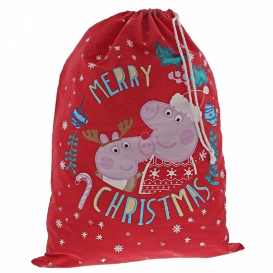 Peppa Pig Christmas Santa Toy Sack