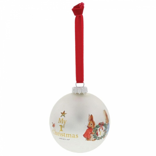 Beatrix Potter Peter Rabbit My First Christmas Bauble