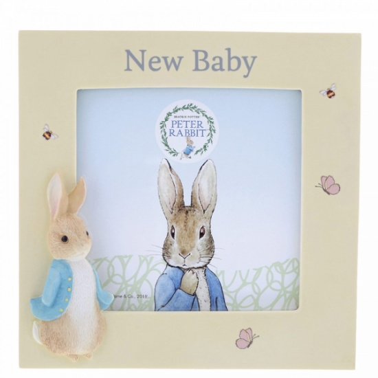 Peter Rabbit New Baby Photo Frame - Holds 4 x 4'' photo Beatrix Potter
