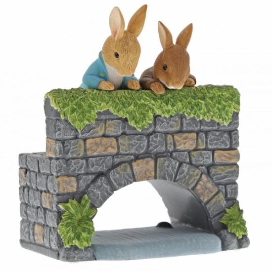 Beatrix Potter Peter & Benjamin Bunny on the Bridge Figurine