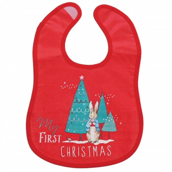 Beatrix Potter - Peter Rabbit My First Christmas Red Bib