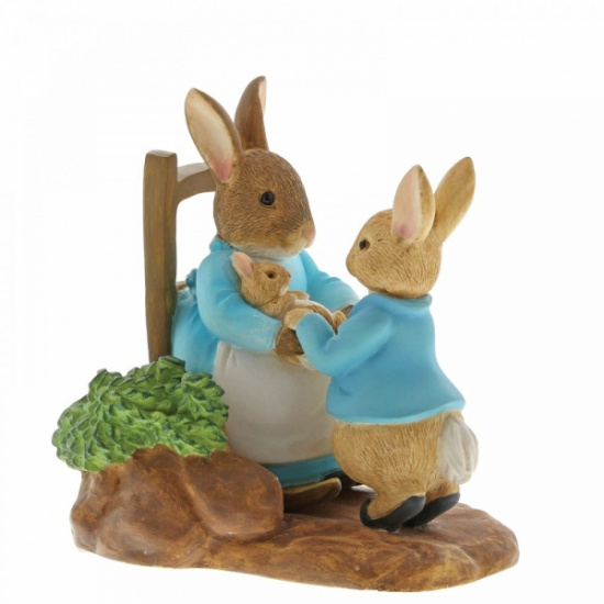 Beatrix Potter At Home by the Fire with Mummy Rabbit Figurine - Peter Rabbit