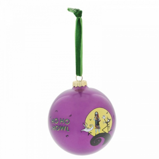 Festive Frights Nightmare Before Christmas Glass Bauble - Gift Boxed