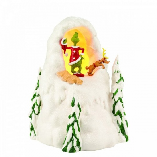 How the Grinch Stole Christmas Mount Crumpit Light Up Who-Ville Village Figurine